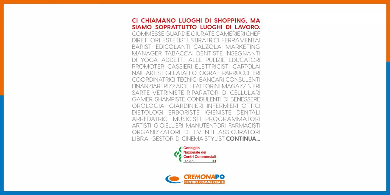 Consiglio Nazionale dei Centri Commerciali | CremonaPo