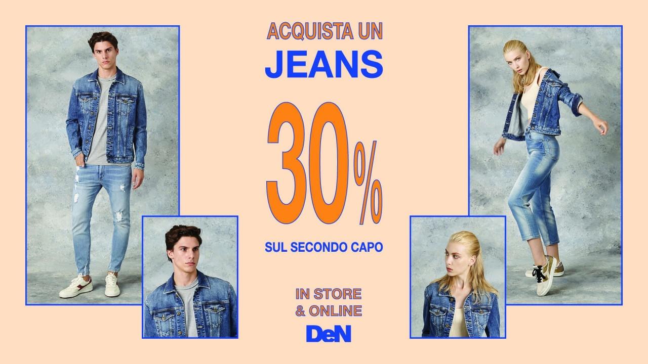 Acquista un Jeans 30% sul secondo capo