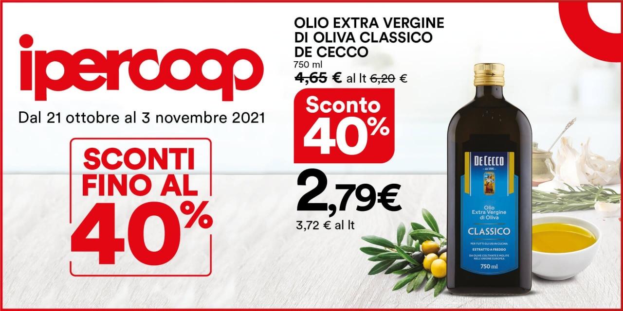 Olio Extra vergine di Oliva Classico De Cecco   Promo   CremonaPo