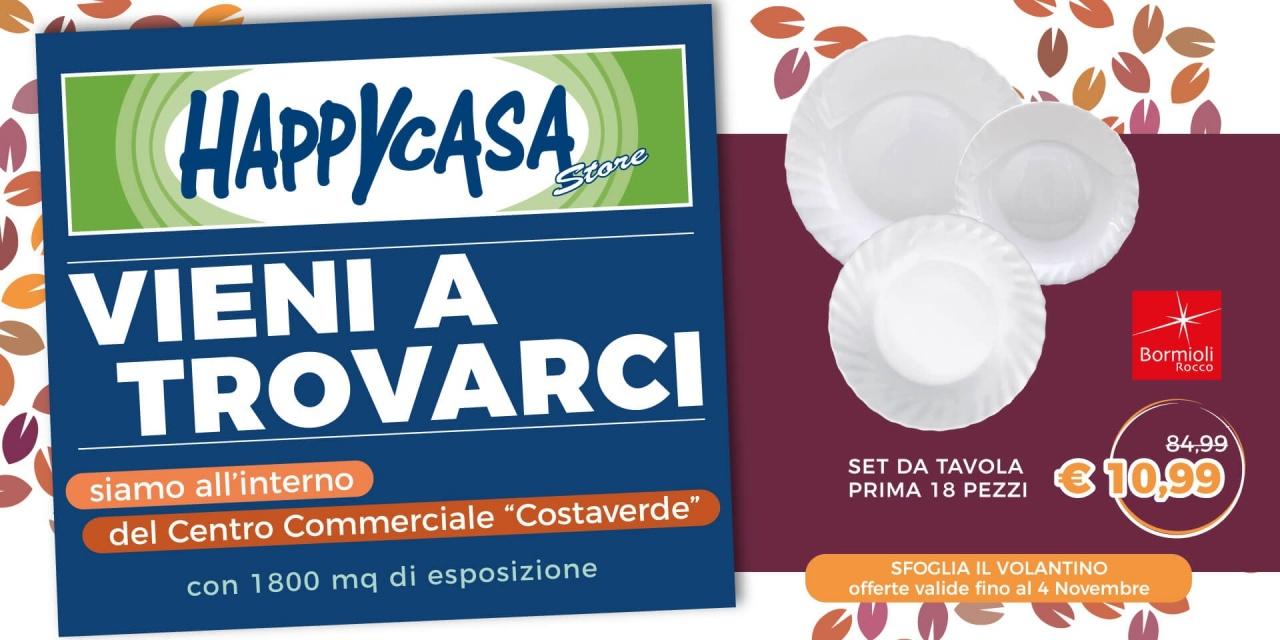 Offerta Volantino Happy Casa Store   Promo   CremonaPo