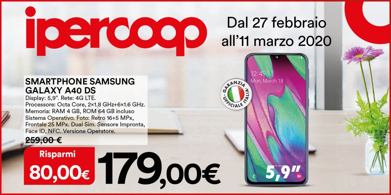Smartphone Samsung Galaxy A40 DS | Offerte | CremonaPo